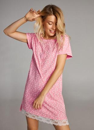 Женская ночная сорочка украинского производителя ellen lnd 302/001