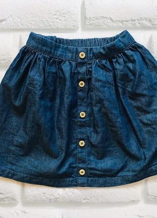George стильная тонкая джинсовая юбка на девочку 4-5 лет