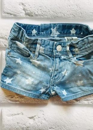 H&m стильные джинсовые шорты на девочку 1,5-2 года