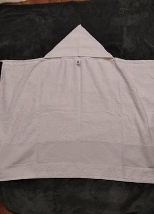 Банное ,пляжное полотенце с капюшоном