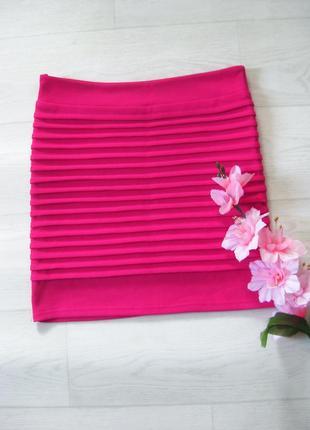 Яркая розовая юбка magnifique бандажная облегающая обтягивающая