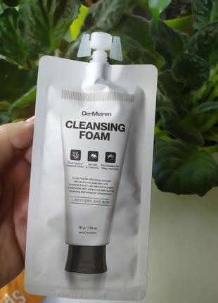 Пенка скрабдля лица dermeiren scrub power and deep cleansing foam