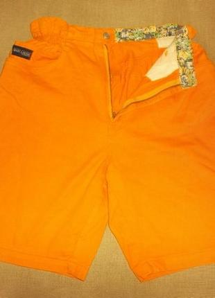 Шорты джинс хлопок желтые с карманами р. l - marc lauge