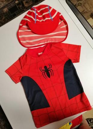 Пляжний набор (футболка + панамка с защитой от солнца) для мальчика 2-4 года