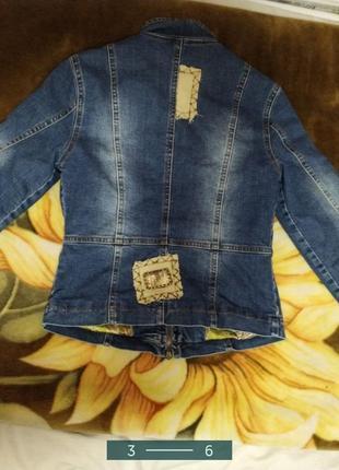 Стильная куртка джинсовая