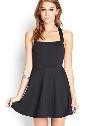 Крутое чёрное маленькое мини платье сарафан на лето