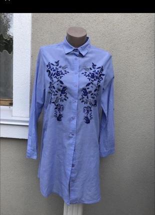 Шикарная рубашка с вышивкой котон