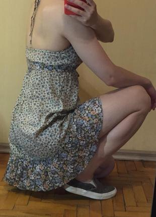 Летнее легчайшее платье на завязках