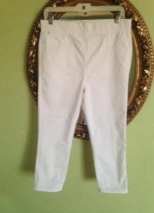 Зауженные длинные шорты капри на широкой резинке denim