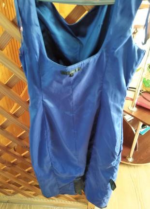 Атласне плаття синього кольру