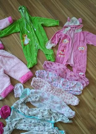 Вещи для младенца до 6 мес платье, костюм, боди, человечек