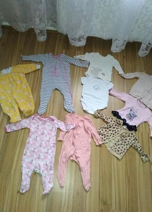 Одежда для младенца человечек боди кофточки h&m