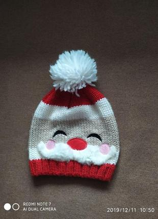 Шапка новорічна дід мороз новогодняя дед мороз костюм зимова зимняя