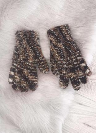 Стильные новые перчатки анимал принт распродажа