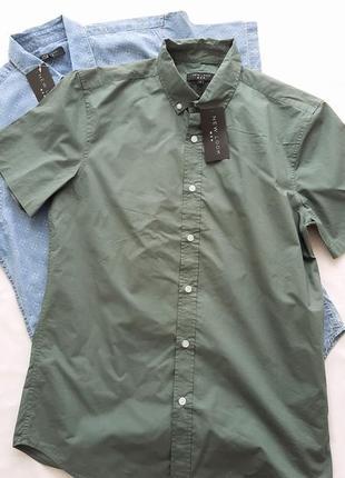 Новая мужская рубашка с коротким рукавом new look