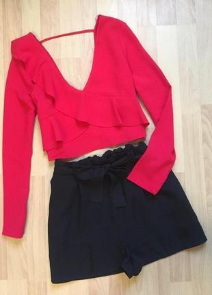 Наборчик шорты и укороченная блуза