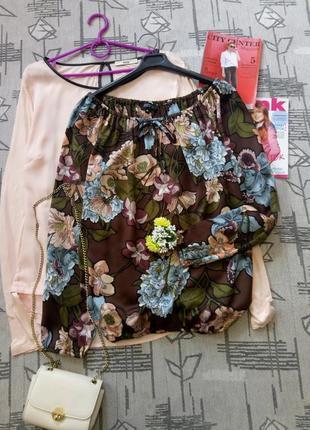 Красивая атласная блуза, vеstino, размер 10-12