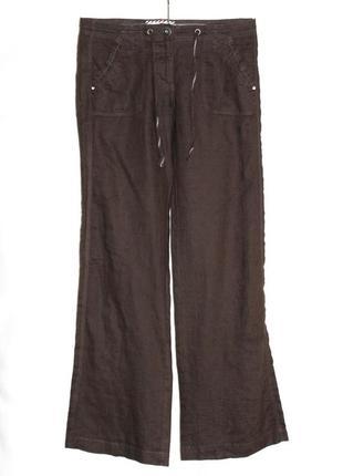 Летние брюки прямые лёгкий тонкий 100% лён, clockhouse германия