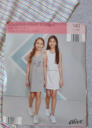 Летний сарафан для девочки р 140