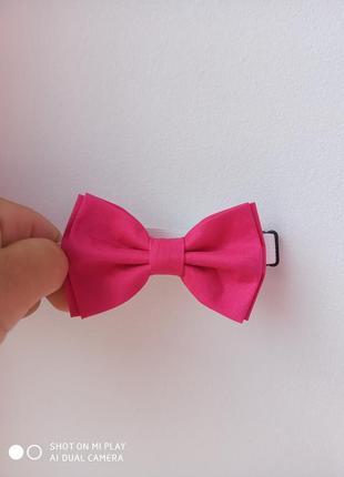 Галстук-бабочка цвета фуксия, малиновая бабочка, метелик рожевий. hand made