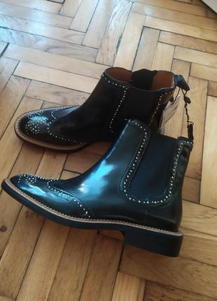 Ботинки демисезонные zara, ecco, geox, черевики демісезонні