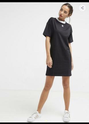 Платье adidas, адидас, удлиненная футболка