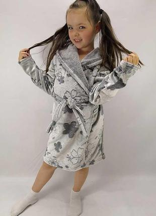 Мягкий халат для девочки