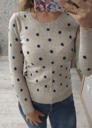 Нежный теплый приятный свитерок с шерстью и кашемиром