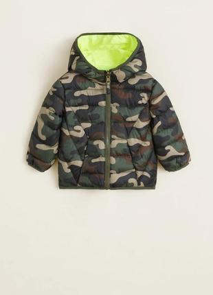 Двусторонняя демисезонная куртка  mango для мальчика