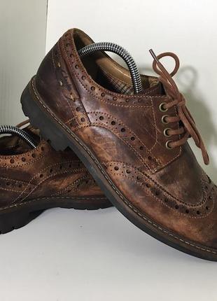 Мужские туфли (броги) clarks ( кларкс 41,5-42рр 26см )