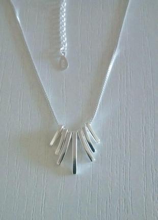 Цепочка, ожерелье, кулон, серебро 925