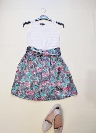 Актуальная сатиновая летняя юбка atm xs-s