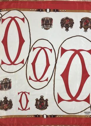 Винтажный шелковый платок cartier paris(оригинал)