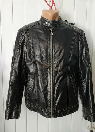 John f. gee оригинал мужская кожаная куртка