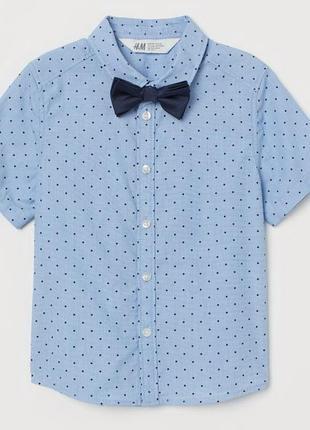 Стильная рубашка h&m c бабочкой