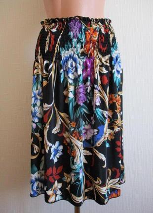 Sale -50%! трикотажная юбка в яркий принт
