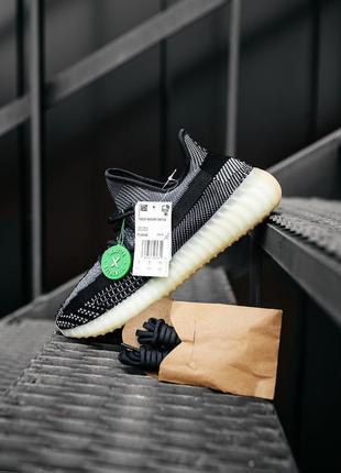 Adidas yeezy boost 350 v2 asriel (кроссовки черные с серым адидас)