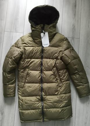 Удлиненная деми куртка мужская pull & bear xs