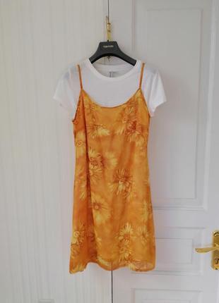 🌞🔥💛винтажный сарафан, винтажное платье в стиле 90х 💛🌞🔥
