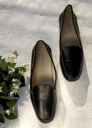 Туфли мокасины geox из мягкой натуральной кожи р. 37,5 сток