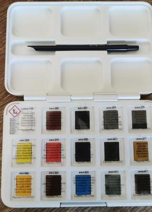 Набор акварельных красок van gogh pocket box 15 цветов 2,5 мл кюветы