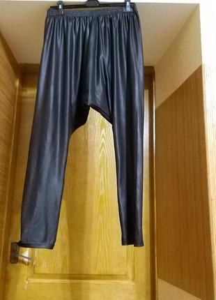Брендовые штаны под кожу с мотней от milla