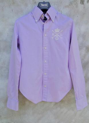 Лавандовая, базовая рубашка от polo ralph lauren