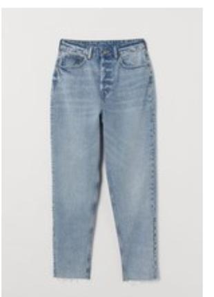 Новые джинсы ankle mom h&m