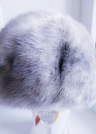 Норковый серый берет