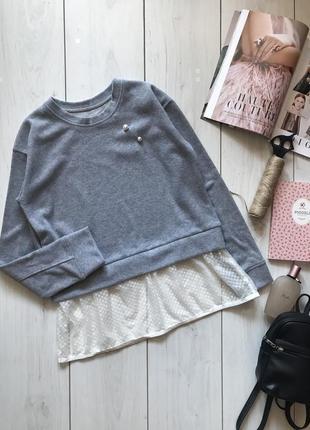 Серый свитшот с фатином