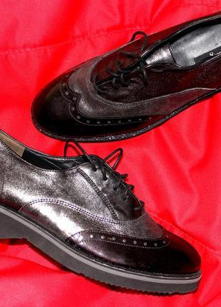 Шикарные туфли оксфорды paul green австрия р.40 (6 1/2).