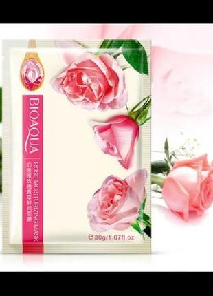 Тканевая маска для лица bioaqua rose с натуральным соком розы