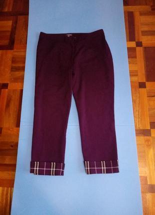 Укороченные брюки-кюлоты марсала