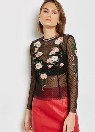 Блуза topshop с вышивкой